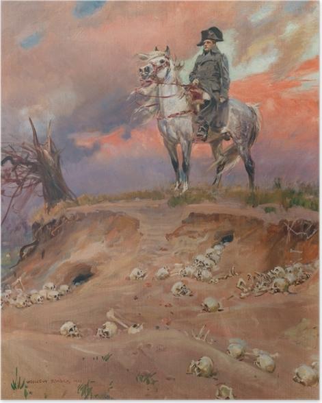 Poster Wojciech Kossak - Napoléon sur le champ de bataille - Reproductions