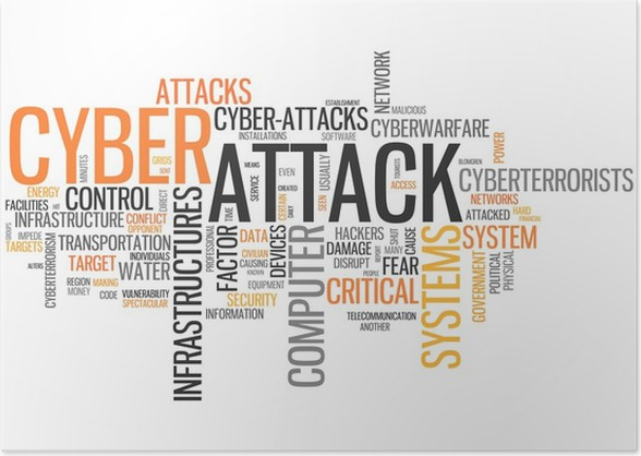 word cloud cyber attack poster pixers we live to change