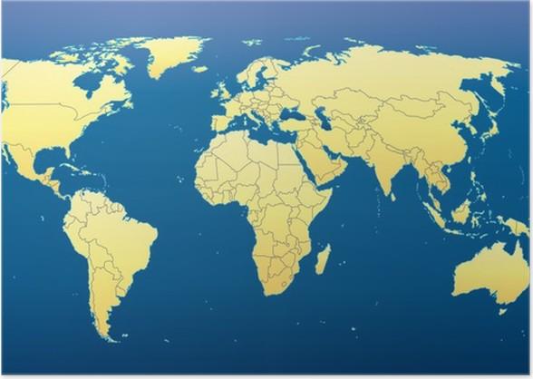World map 2012 including new states dark blue background poster world map 2012 including new states dark blue background poster gumiabroncs Gallery