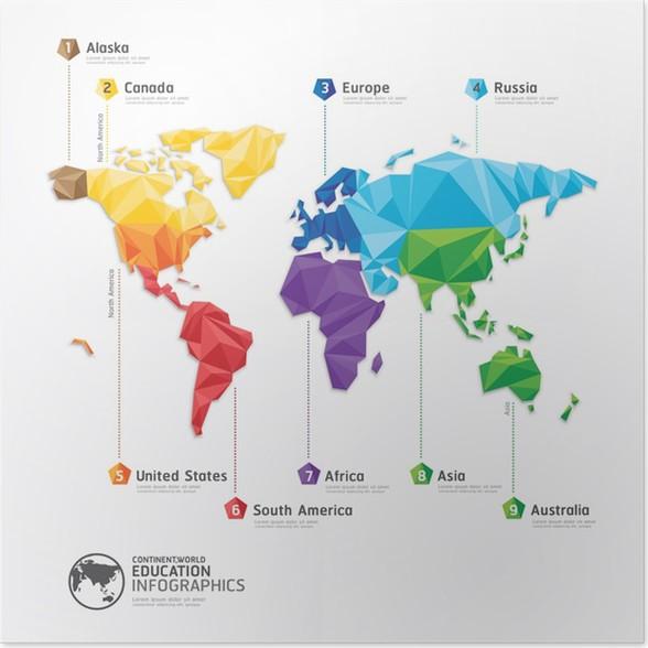 World map illustration infographics geometric concept design vec world map illustration infographics geometric concept design vec poster sales gumiabroncs Choice Image