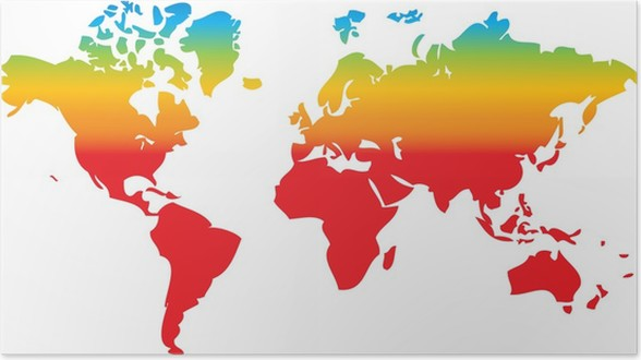 World map in rainbow colors poster pixers we live to change world map in rainbow colors poster accesories and objects gumiabroncs Gallery
