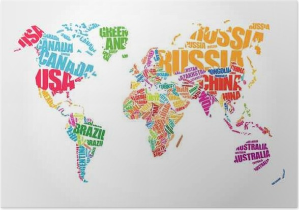World map in typography word cloud concept names of countries world map in typography word cloud concept names of countries poster business gumiabroncs Gallery