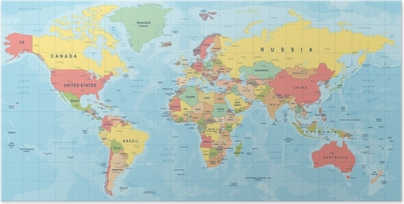 World map vector detailed illustration of worldmap poster pixers world map vector detailed illustration of worldmap poster travel gumiabroncs Choice Image