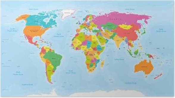 World map vector englishus labels poster pixers we live to change world map vector englishus labels poster gumiabroncs Images
