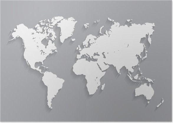 World map vector illustration on the gray background eps10 poster world map vector illustration on the gray background eps10 poster gumiabroncs Choice Image