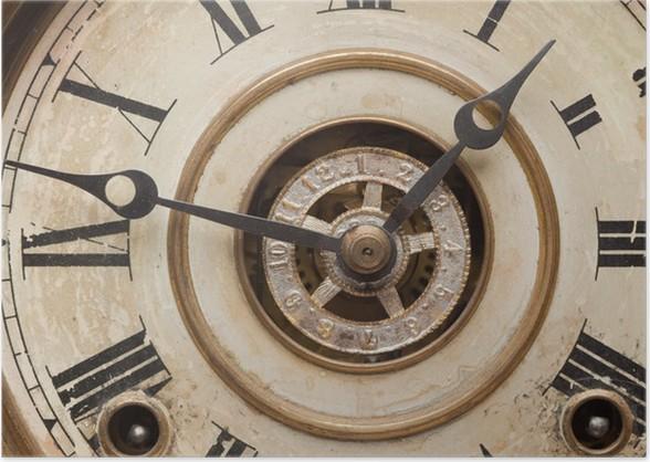 worn vintage antique clock face poster pixers we live to change