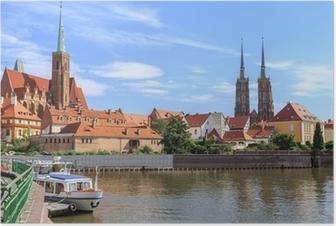 Poster Wroclaw, Ostrow Tumski (l'île de la cathédrale), la Pologne