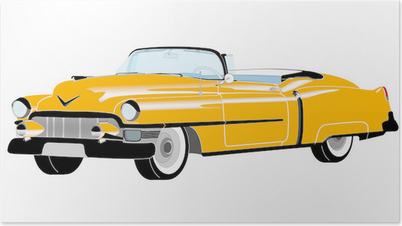Yellow Cadillac Poster • Pixers® • We live to change
