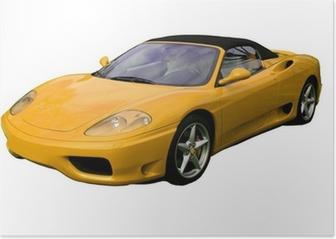 yellow convertible supercar Poster
