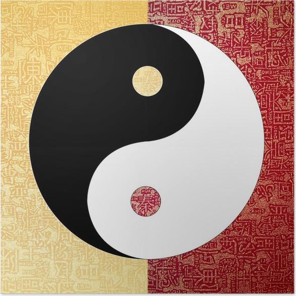 Yin Yang Symbol Poster Pixers We Live To Change
