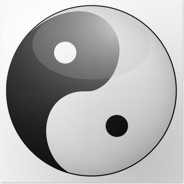 Yin Yang Symbol Poster Pixers We Live To Change
