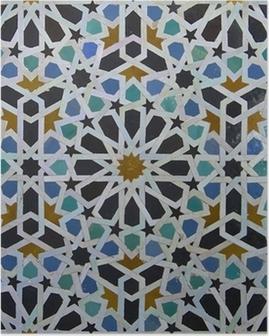Poster Zellige Marokkaanse Patroon van de Tegel