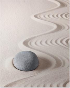 Poster Zen meditatie steen