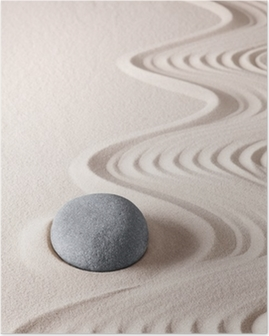 zen meditation stone Poster