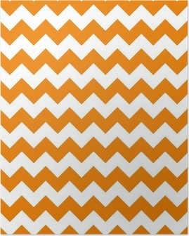 zig zag chevron pattern background vintage vector illustration Poster