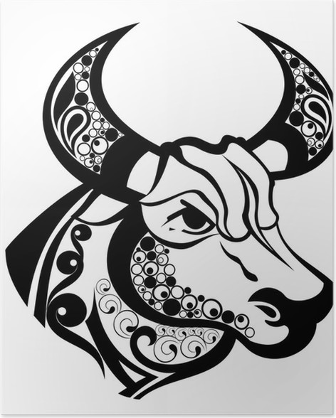 Zodiac Signs Taurus Design Poster Pixers We Live To