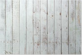 Poster Zwarte en witte achtergrond van houten plank