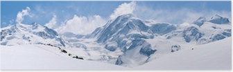 Poster Zwitserse Alpen Mountain Range Landschap