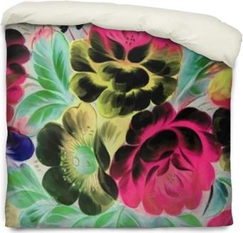 Poszewka na kołdrę Malarstwo olejne, styl impresjonistyczny, malowanie faktur, kwiat martwa natura obraz malowany kolorem,