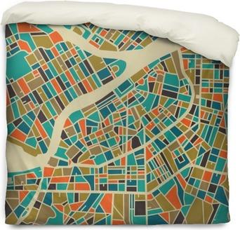 Poszewka na kołdrę Petersburg map wektorowych. Kolorowe rocznika podstawy projektowania karty podróży, reklamy, prezent lub plakatu.