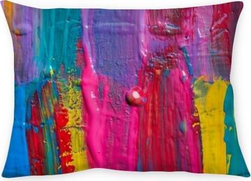 Poszewka na poduszkę Streszczenie sztuka tło. ręcznie malowane tła