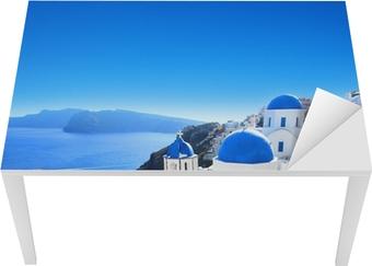 Grèce - santorin (oia kylä) Pöytä - ja työpöytä pinnoitus