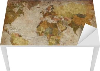 Maailmankartta Pöytä - Ja Työpöytä Pinnoitus
