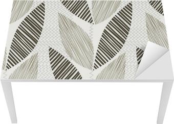 Mustavalkoinen saumaton malli abstrakti lehdet. Pöytä - ja työpöytä pinnoitus