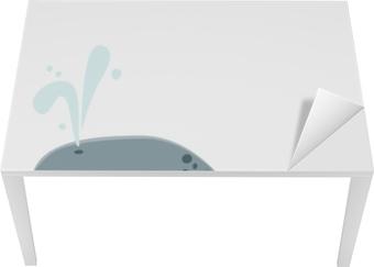 Suuri baleeni bleue Pöytä - ja työpöytä pinnoitus