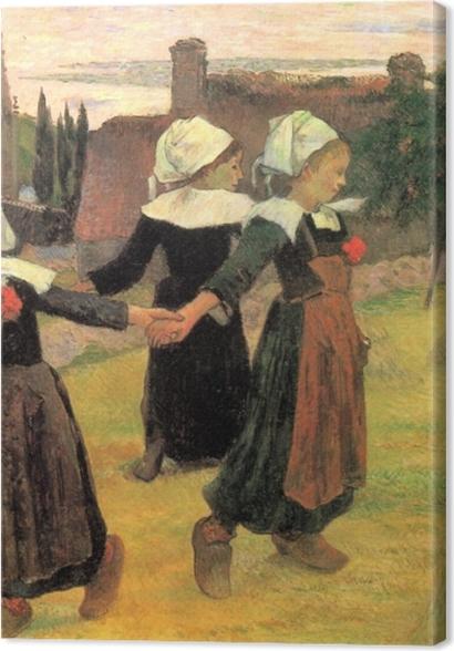 Premium Bilder Paul Gauguin - Der Reigen der kleinen Bretoninnen - Reproduktion