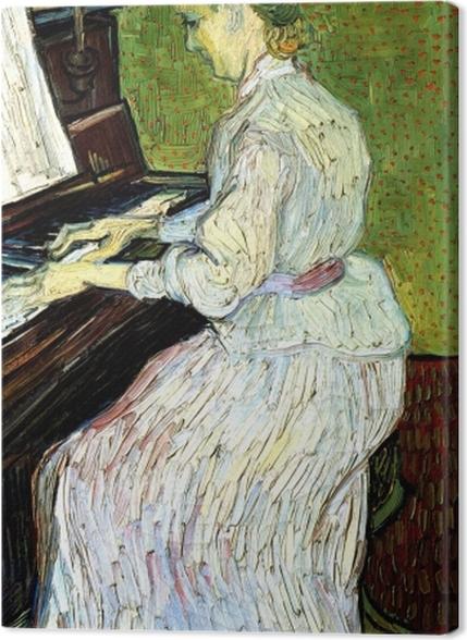 Premium Bilder Vincent van Gogh - Marguerite Gachet am Klavier - Reproductions