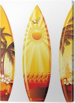 3 surf boards Premium prints
