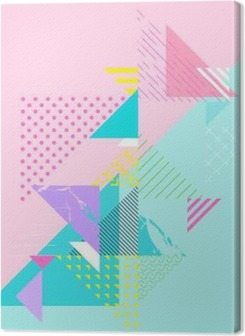 Abstract colorful geometric composition Premium prints