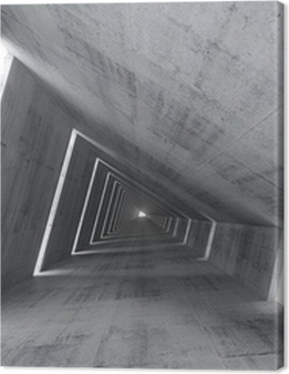 Abstract empty concrete interior, 3d render of pitched tunnel Premium prints