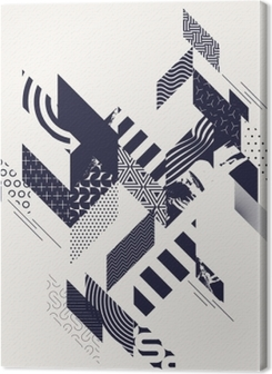 Abstract modern geometric background Premium prints