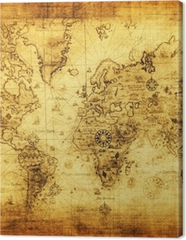 ancient map of the world Premium prints