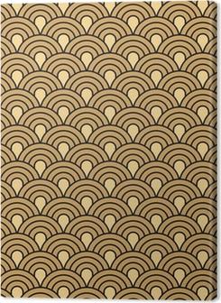 Art Deco seamless vintage wallpaper vector pattern Premium prints