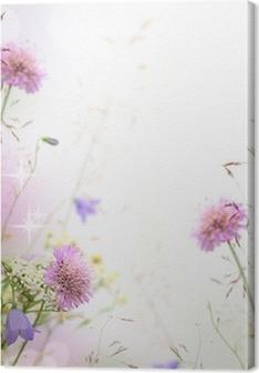 Beautiful pastel floral border - blurred background Premium prints