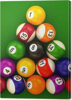 billiard balls with numbers Premium prints