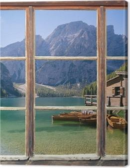 Blick aus dem Fenster Premium prints
