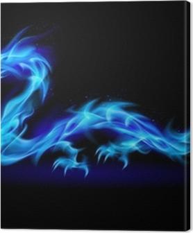 Blue fire Dragon Premium prints