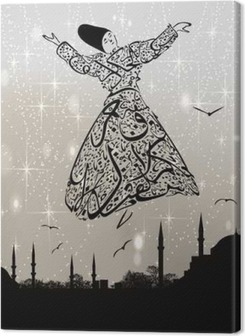 calligraphy dervish and istanbul mosques Premium prints