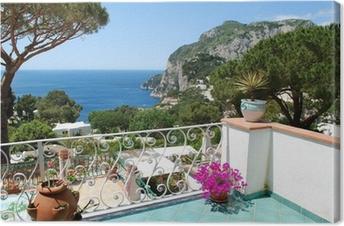 Capri, Balcony view Premium prints