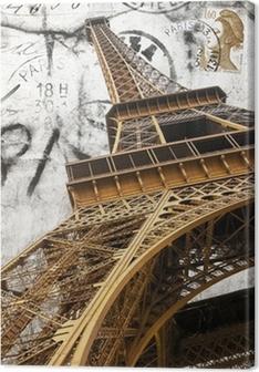 cartolina vintage della tour Eiffel Premium prints