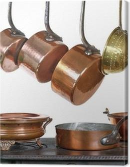 casseroles et ustensiles de cuisine, en cuivre Premium prints