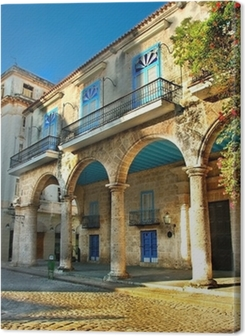Colonial architecture in Havana Premium prints