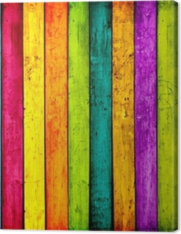 Colorful Wood Planks Background Premium prints