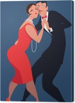 Couple dressed in 1920s style dancing tango Premium prints