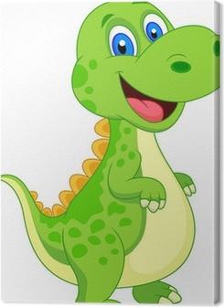 Cute dinosaur cartoon Premium prints