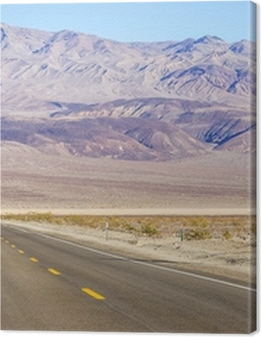 Death Valley landscape and road sign,California Premium prints